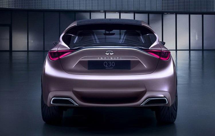 2015 Infiniti Q30 rear view