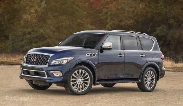 2015 Infiniti QX80 side view