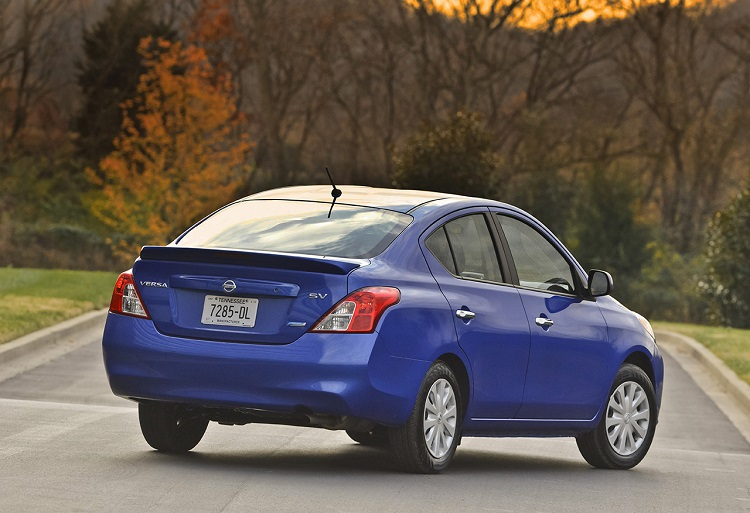 2015 Nissan Versa rear view