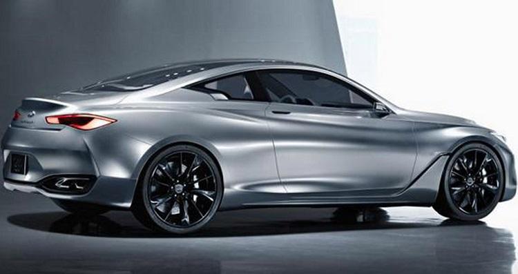 2016 Infiniti Q60 rear view