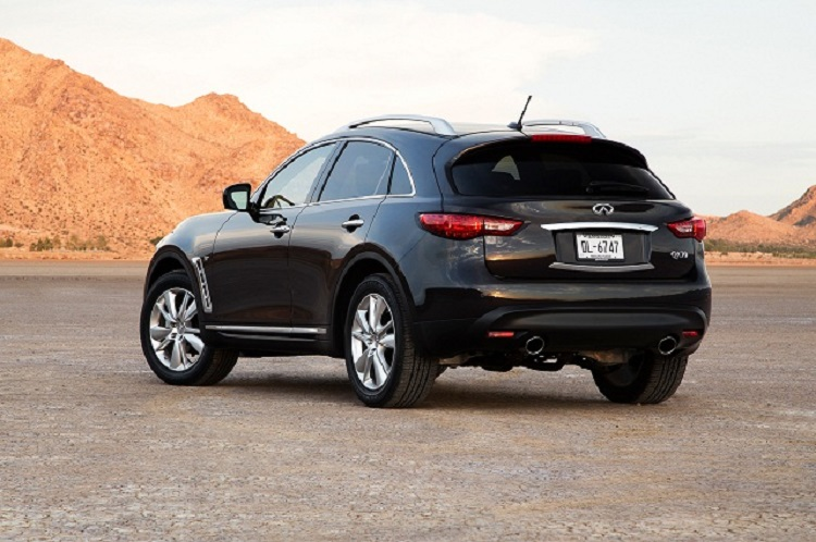 2016 Infiniti QX70 rear view