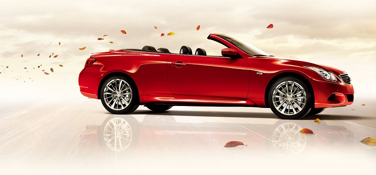 2015 Infiniti Q60 Convertible side view