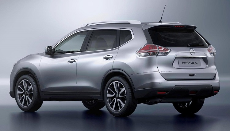 2016 nissan x trail rear view