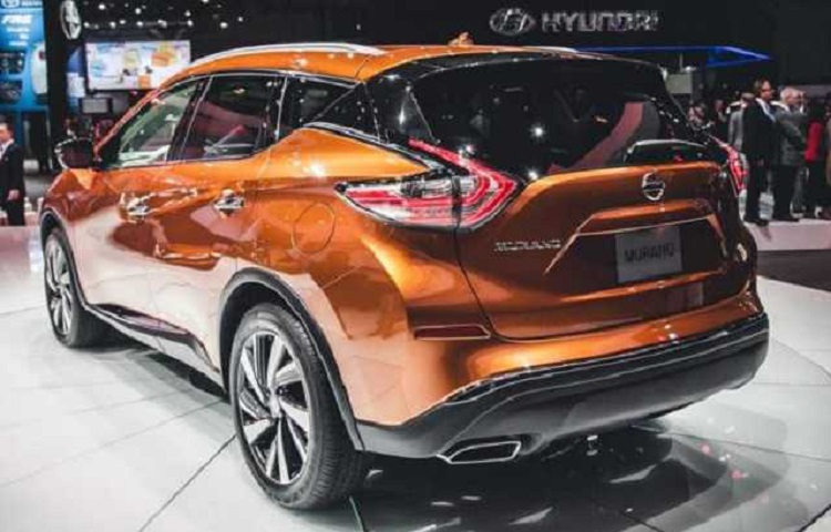2017 nissan murano rear view