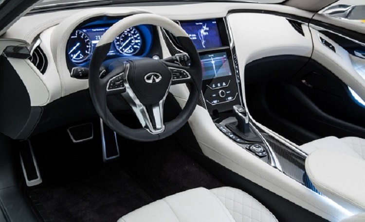 2017 Infiniti Q60 coupe interior