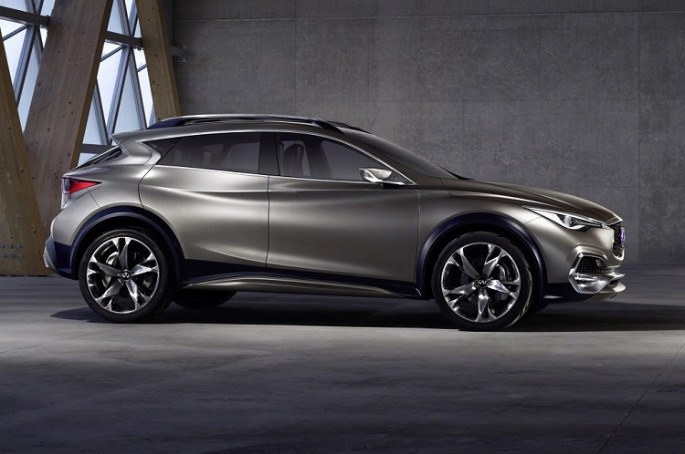 2018 Infiniti QX30 side view