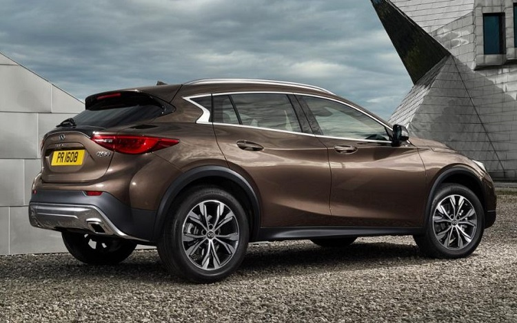 2019 Infiniti QX30 rear view
