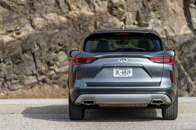 2019 infiniti qx50 rear view