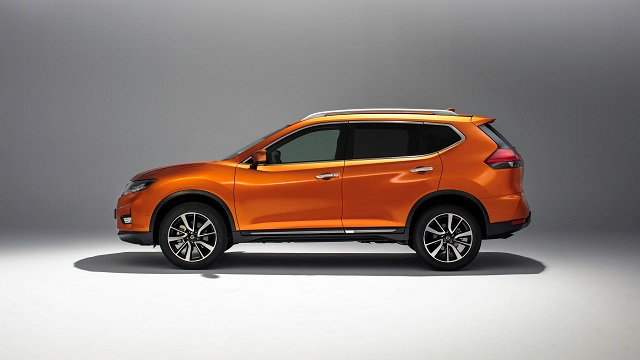 2019 nissan x trail side view